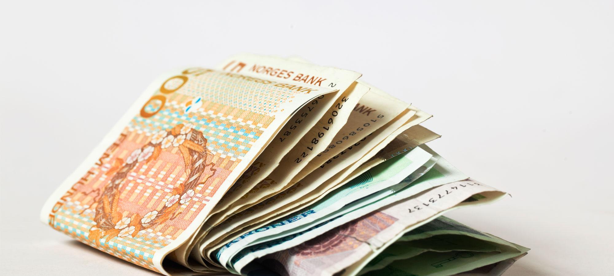 En bunke med kontanter